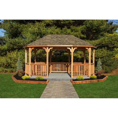 12'x18' Wood Oval Gazebo Kit