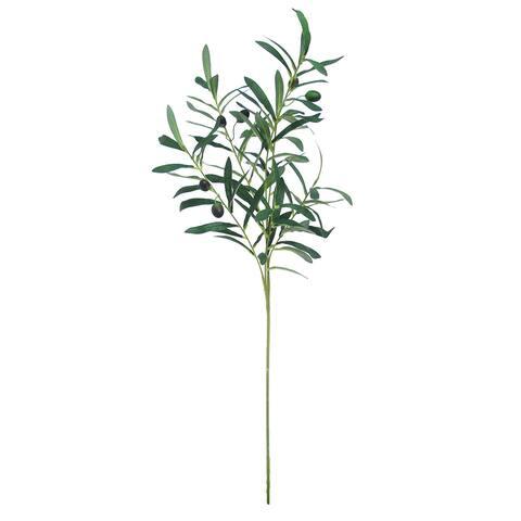 "Set of 6 Olive Leaf Stem Branch Greenery Spray 35in - 35"" L x 10"" W x 7"" DP"