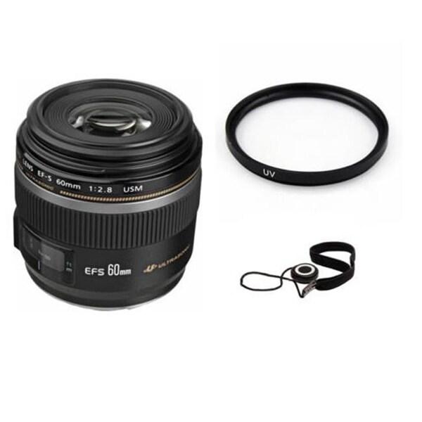 Canon YP4986 EF-S 60 mm Macro USM Lens Bundle