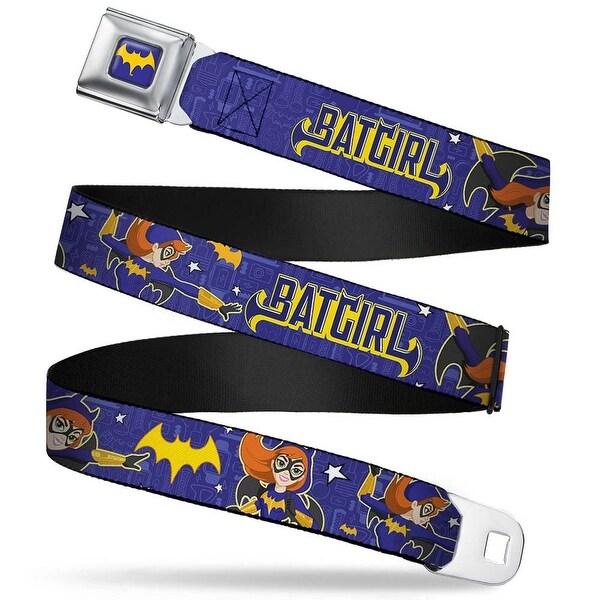 Batgirl Bat Signal Full Color Purple Gold Dc Girls Batgirl 3 Poses Stars Seatbelt Belt