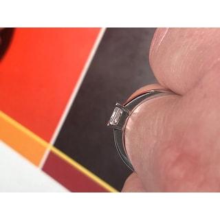 Miadora Men's Sterling Silver White Sapphire Ring