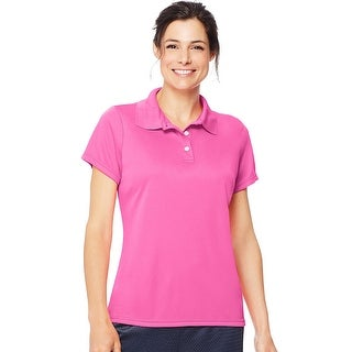 Hanes Cool DRI® Women's Polo - Size - S - Color - Wow Pink