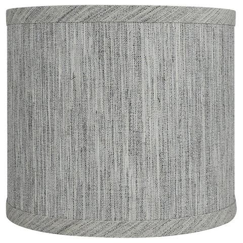 """Classic Drum Smooth Linen Lamp Shade, 8"""" to 16"""" Bottom Size"""