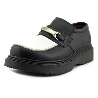 Wicked Road Warrior Jersey Cow Men Round Toe Leather Black Loafer