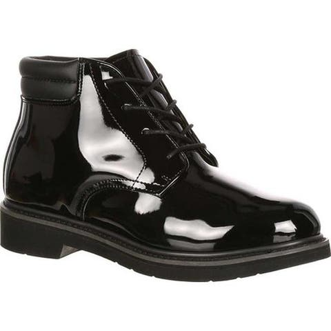 Rocky Men's High Gloss Dress Leather Chukka Boot 500-8 Black Full Grain Leather