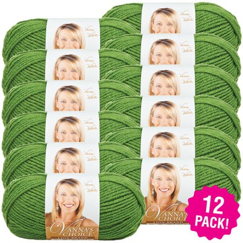 Lion Brand Vanna's Choice Yarn 12/Pk-Kelly Green