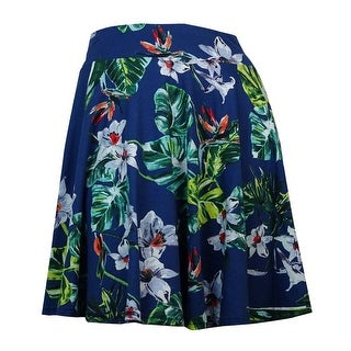 American Living Women's Pull-On Floral-Print Skirt (Multi, XL) - XL