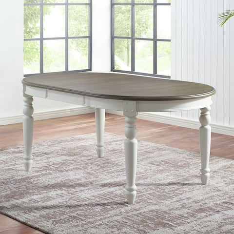 The Gray Barn Gustine Two-tone Oval Dining Table - 70-inch
