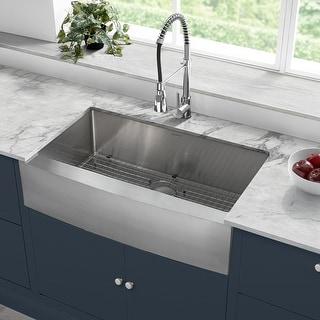 """Rivage 36 x 21 Single Basin Farmhouse Kitchen Sink - 36"""" x 21"""""""