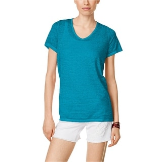 I-N-C Womens High Low Hem Basic T-Shirt, Blue, Medium