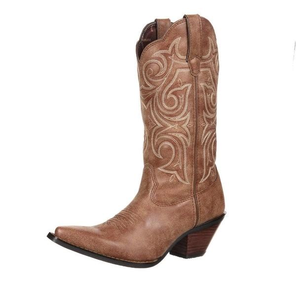 Durango Western Boots Womens Crush Scall Vintage Cinnamon