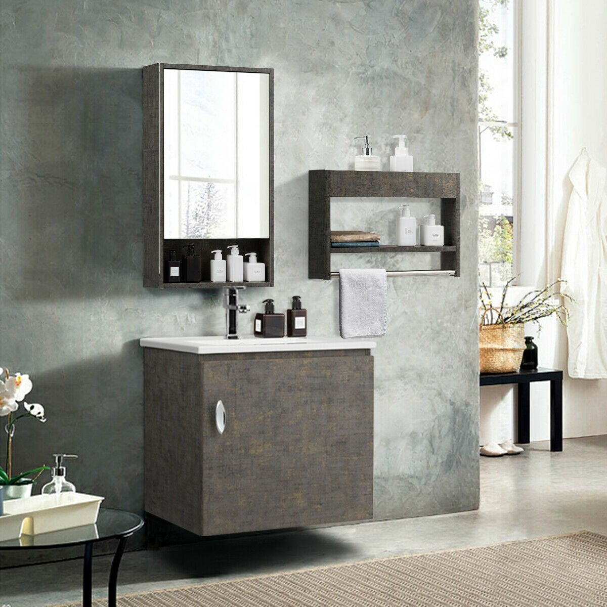 Wall Mounted Bathroom Vanity Sink
