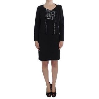 BENCIVENGA BENCIVENGA Black Stretch Sheath Dress Sweater Set