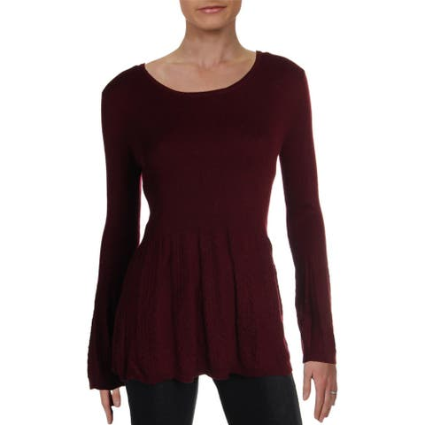 Philosophy Womens Pullover Sweater Cashmere Blend Peplum
