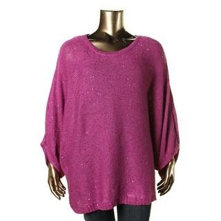 Melissa McCarthy Seven7 Womens Plus Knit Dolman Sleeves Sweater