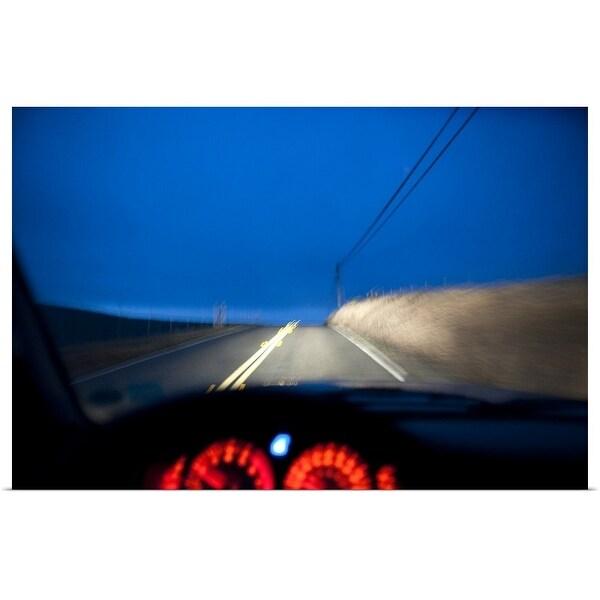 """""""Driving at night"""" Poster Print"""
