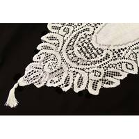 """Crochet Lace Table Runner Approx. 13"""" x 108"""", 100% polyester, spun to be extremely soft - Ivory"""