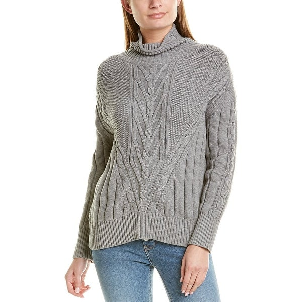 J.Crew Chunky Cable Turtleneck Sweater. Opens flyout.