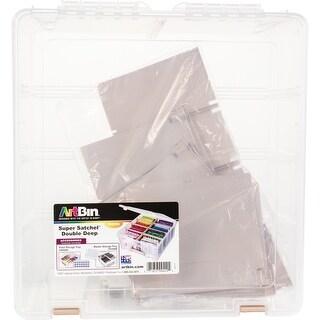 Artbin Super Satchel Double Deep W/Removable Dividers-Rose Gold Handle, Latch & Dividers