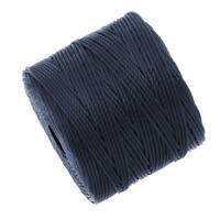 BeadSmith Super-Lon (S-Lon) Cord - Size 18 Twisted Nylon - Navy Blue (77 Yard Spool)
