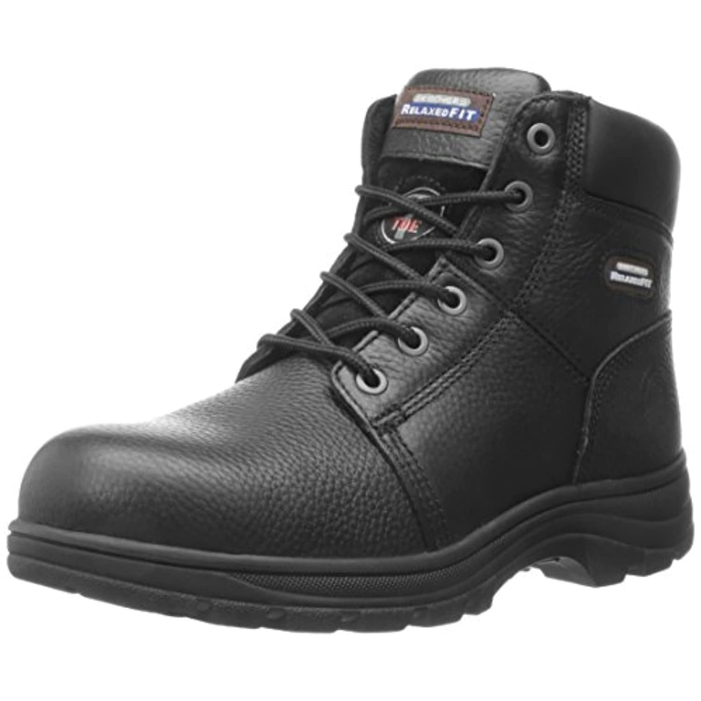 Work Steel Toe Boot,Black