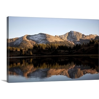 """The Rocky Mountains are reflected in Molas Lake near Silverton, CO"" Canvas Wall Art"