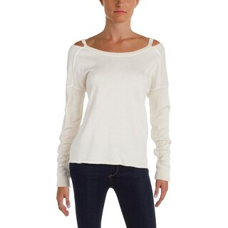Philanthropy Womens Petra Sweatshirt French Terry Cut-Out