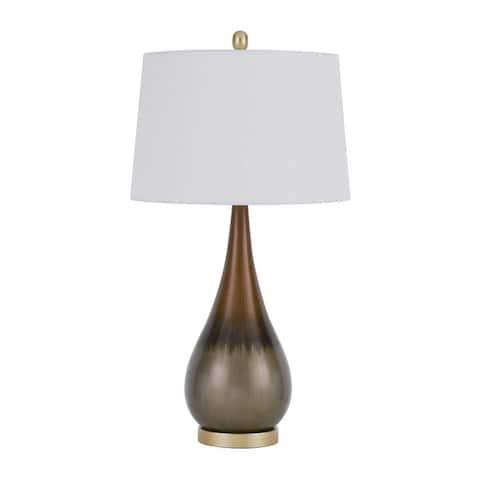 Carmi Taupe Metal Table Lamp
