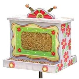 Pink Daisy Wooden Birdhouse