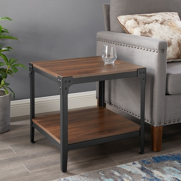 Carbon Loft Witten Angle Iron Side Tables Set Of 2 On Sale Overstock 18063073
