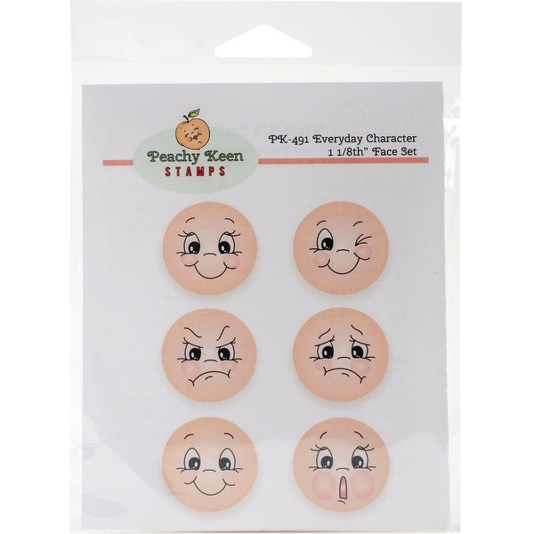 Peachy Keen Stamps Clear Face Assortment 6/Pkg-Everyday Character