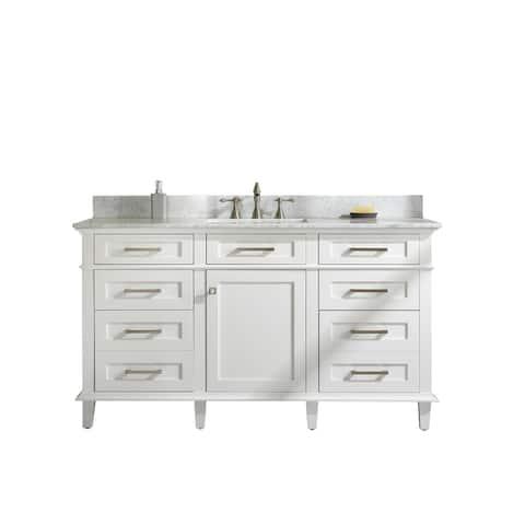 "Legion Furniture 60"" WHITE SINGLE SINK VANITY WLF2260S-W"