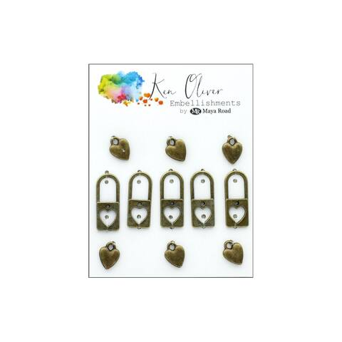 Myko3418 maya road koliver vintage charms lock my heart