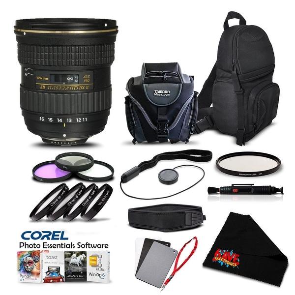 Tokina AT-X 116 PRO DX-II 11-16mm f/2.8 Lens for (for Nikon) (Intl Model) Lens Accessory Kit - black