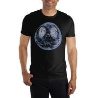 Nightmare Before Christmas Oogie Boogie Jack Skellington Face Mens T-Shirt (Black)