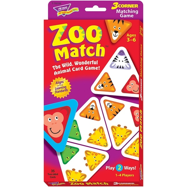 3 Corner Matching Games Zoo Match