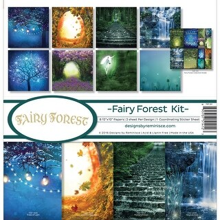 "Reminisce Collection Kit 12""X12""-Fairy Forest W/Fireflies & Unicorn"