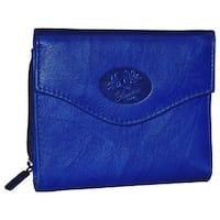 Buxton Heiress Leather Zip Purse
