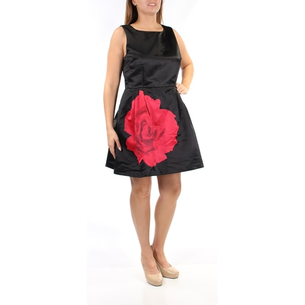 2df999748909 Shop Womens Black Red Printed Sleeveless Mini Fit + Flare Cocktail Dress  Size: 12 - On Sale - Free Shipping On Orders Over $45 - Overstock.com -  23458813