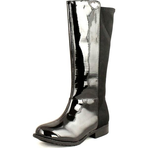 Stuart Weitzman Girls Fifty Fifty Classic Designer Fashion Boots - Black Patent