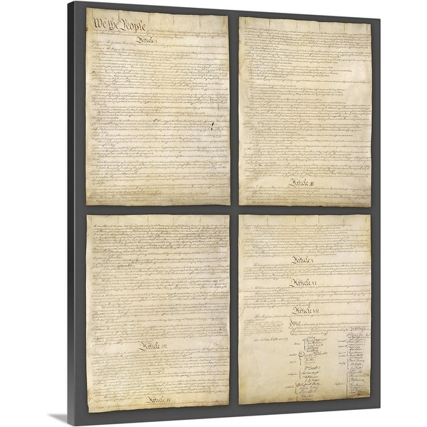"""""""United States Constitution"""" Canvas Wall Art"""