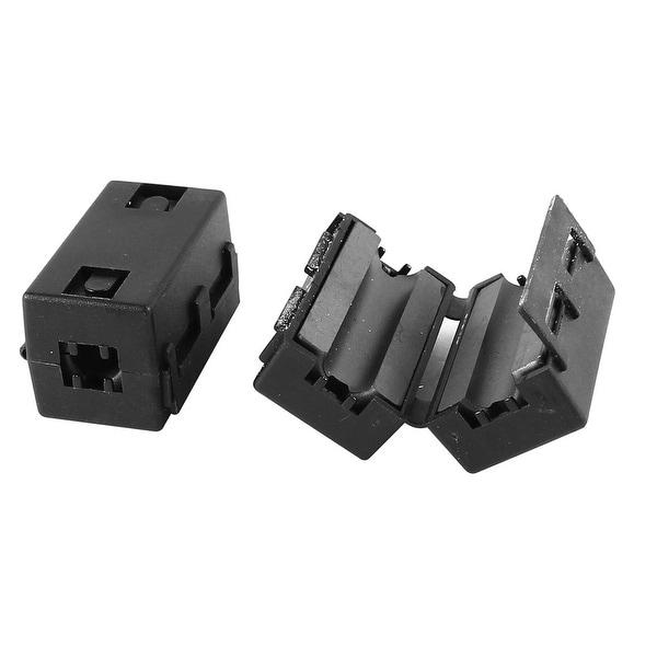 Unique Bargains 2 Pcs Black UF65B Clip On EMI RFI Noise Ferrite Core Filter for 6mm Wire