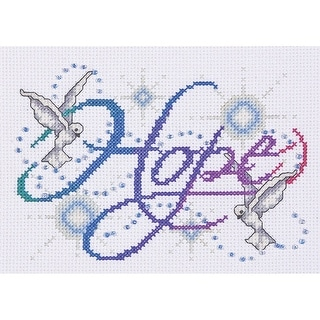 Hope Counted Cross Stitch Kit 5 X7 14 Count Free