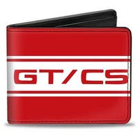 Ford Mustang Gt Cs Stripe Red White Bi Fold Wallet - One Size Fits most