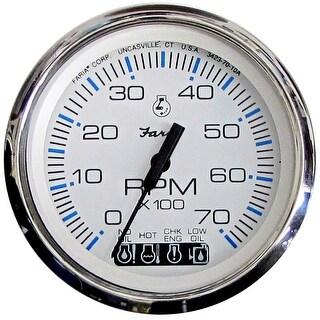 Faria Beede Faria Chesapeake White Ss 4 Tachometer W Systemcheck Gas 33850