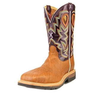 """Twisted X Lite Cowboy Work Composite Toe 12"""" Men Leather Purple Work Boot"""