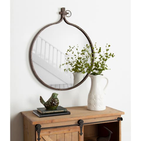 Kate and Laurel Yitro Round Wall Mirror