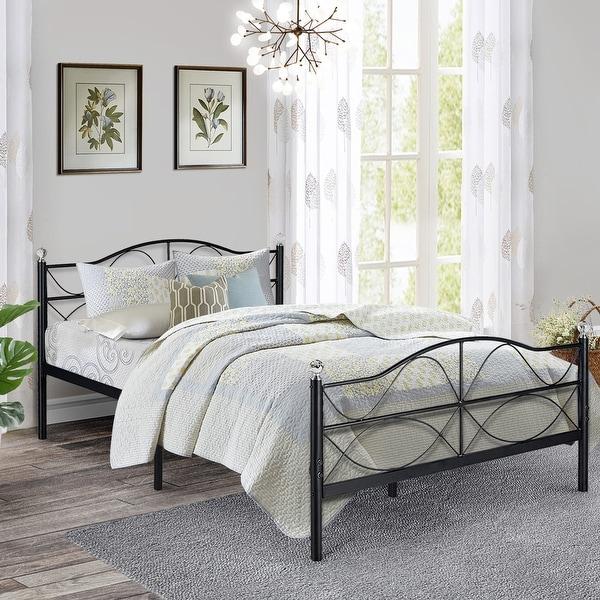 Shop VECELO Metal Bed Frames Mattress Fundation With