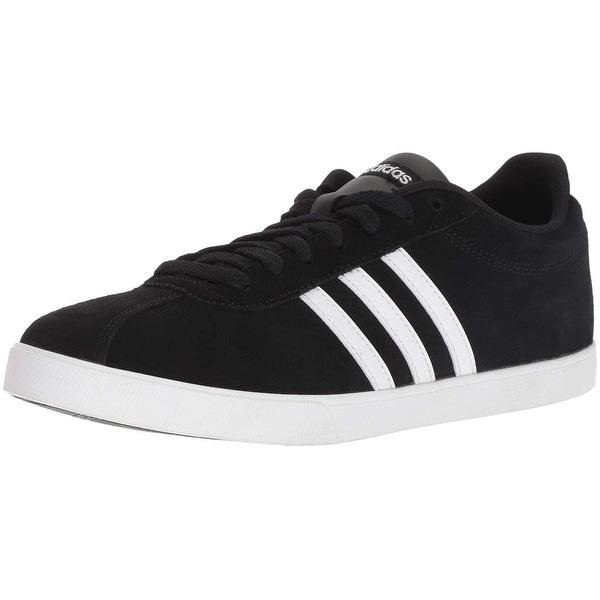 3ff97482d5 Shop Adidas Women's Courtset Sneaker, Black/White/Matte Silver, 10 M ...