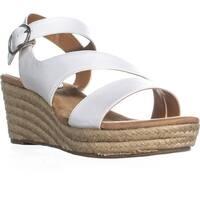 SC35 Xenaa Espadrilles Wedge Sandals, White